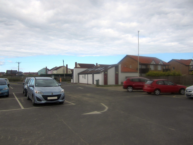 Car park and toilets, Beadnell