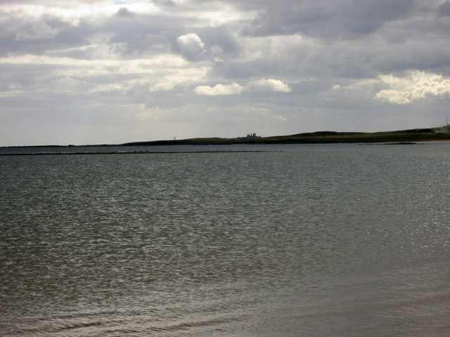 Looking across Beadnell Bay