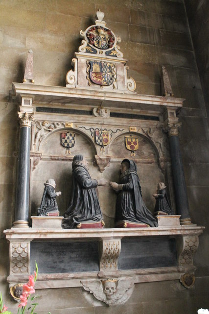 Memorial to Laurence Staunton & family, Uffington church