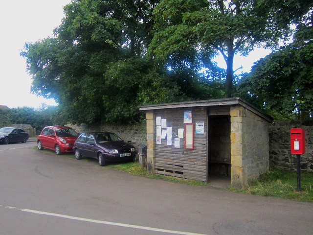 Bus Shelter and Post Box, High Newton-by-the-Sea