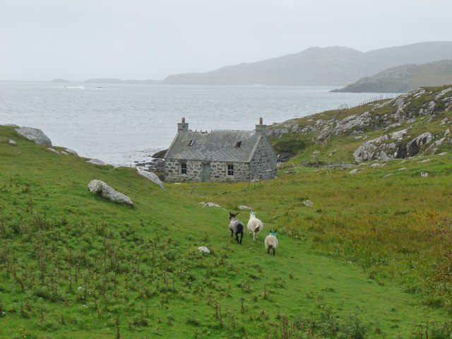 Remote cottage at Uidh on Vatersay