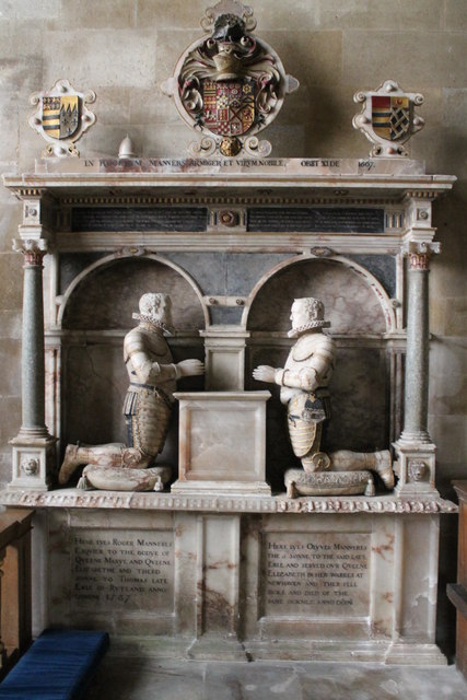 Memorial to Roger & Olyver Manners, Uffington church