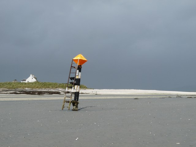 Extent marker for Barra airstrip (the beach)