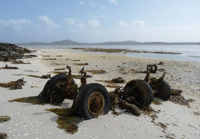 Lorry 'graveyard' on the south shore of Orasaigh