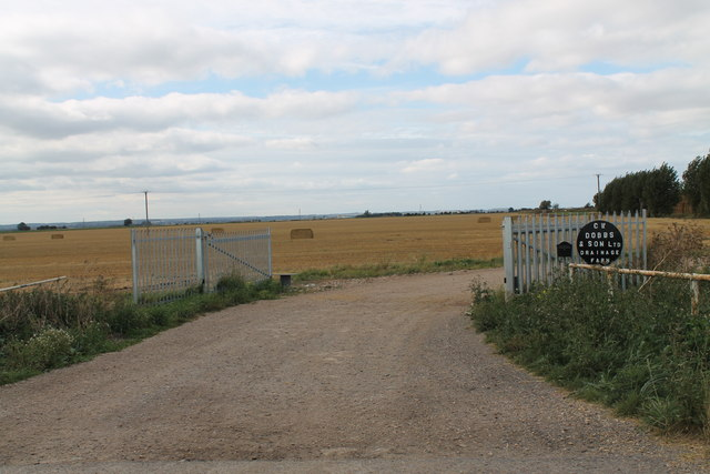 Field and Entrance to Drainage Farm