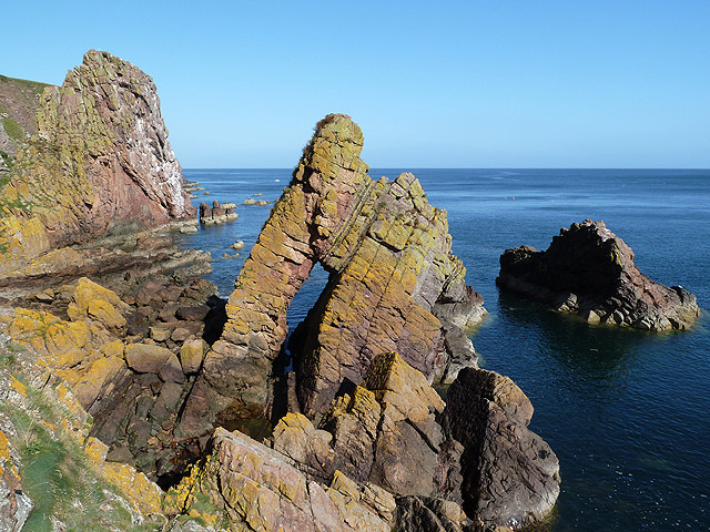 Rock architecture at the Berwickshire Coast