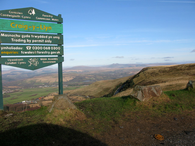 The Craig-y-Llyn viewpoint