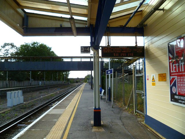 Platform on Havant Station