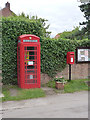 SK7251 : Morton telephone kiosk and postbox  by Alan Murray-Rust