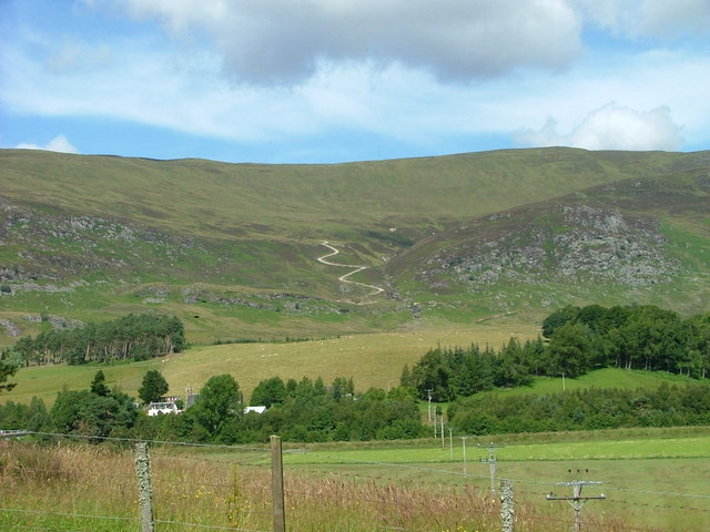 New track above Laggan village