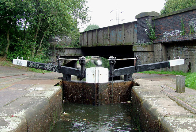 Garrison Top Lock No 59 near Bordesley, Birmingham
