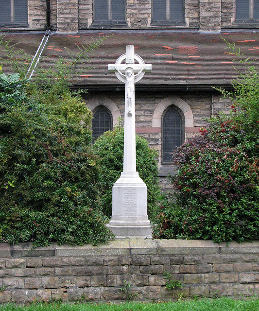 The Meadows: war memorial at St George's Church