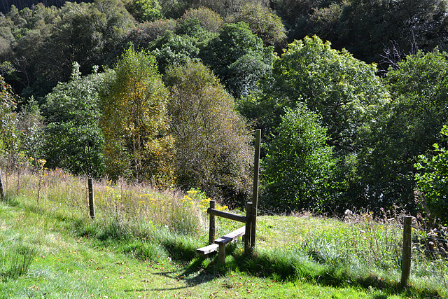 Stile below the nature reserve car park