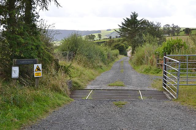 Lane to Garth Fach farm