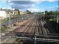 TQ2282 : Railway tracks seen from Scrubs Lane bridge by David Martin