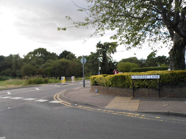 Crabtree Lane at the junction of Southdown Road