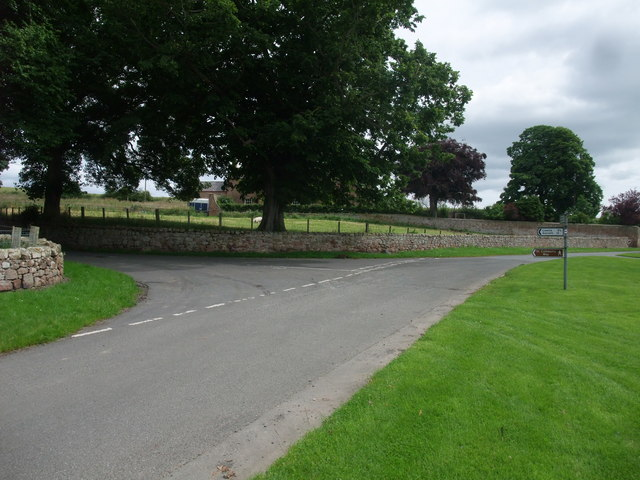 Road junction at East Horton