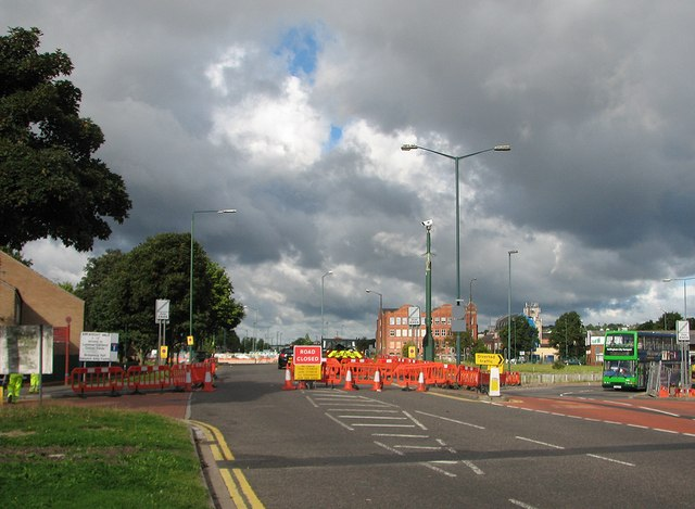 Meadows Way: road closed for tramway works