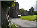 SO2913 : Gatehouse Remains, Abergavenny Castle by David Dixon