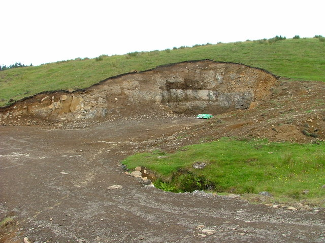 Roadside quarry in Glenuachdarach