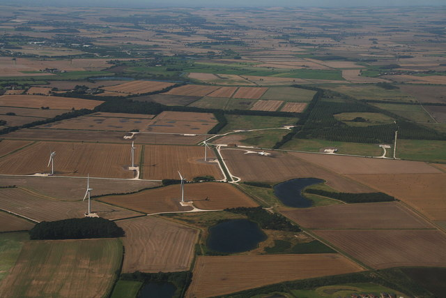 Beverley windfarm: aerial