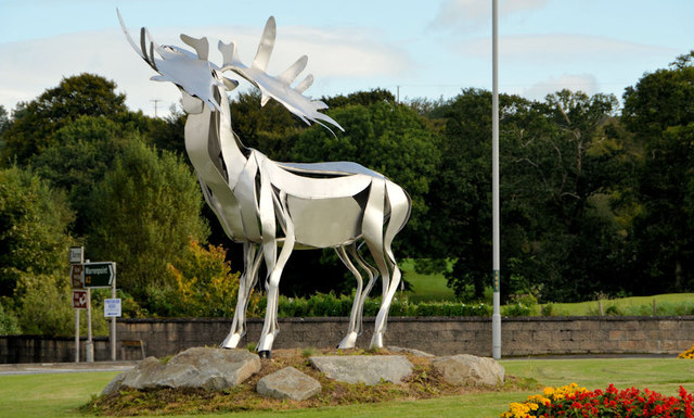 Irish elk sculpture, Warrenpoint