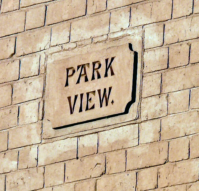 Park View name plaque