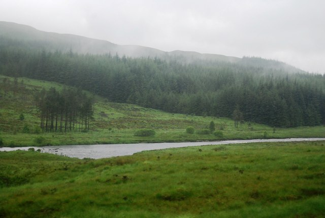 River Orchy and Woodland beyond