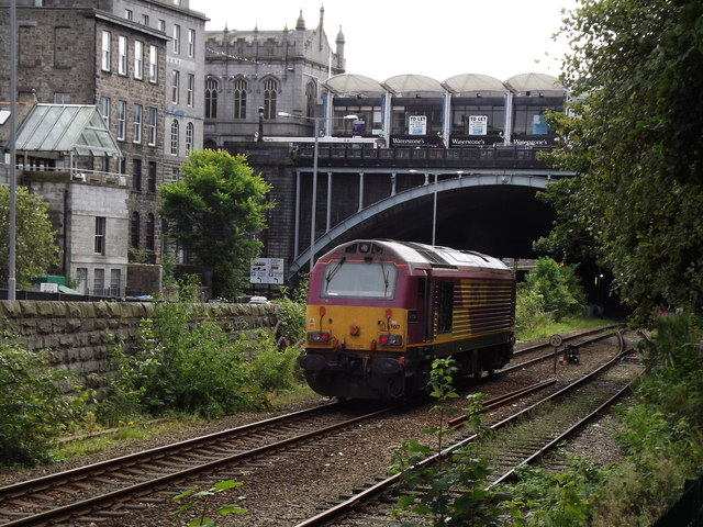 Locomotive Below Union Bridge
