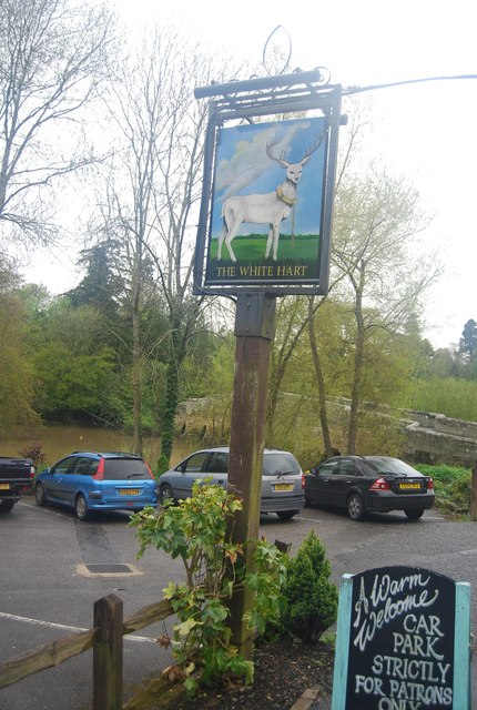 White Hart sign