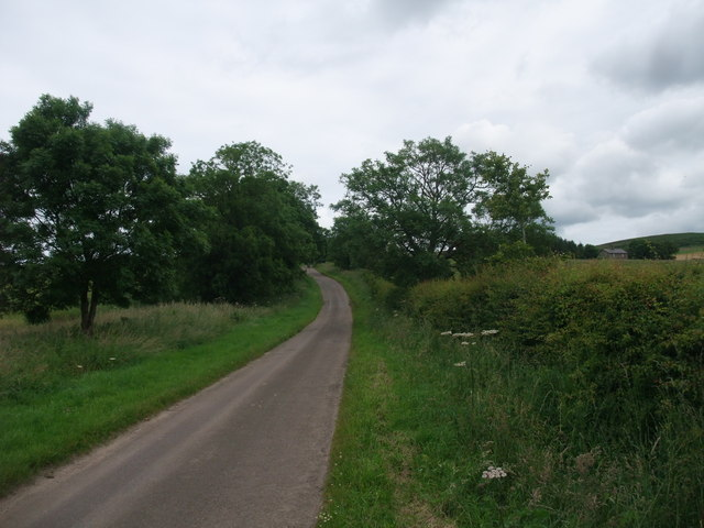 Climbing up towards the Kyloe Hills