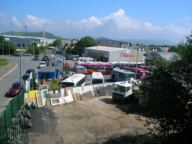 Coach depot and caravan showroom