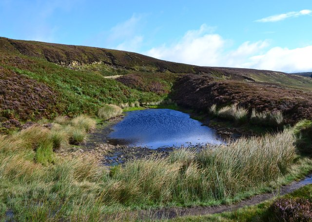 Moorland pool north of Ashop Clough