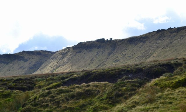 "View of ""The Edge"" across Black Ashop Moor"