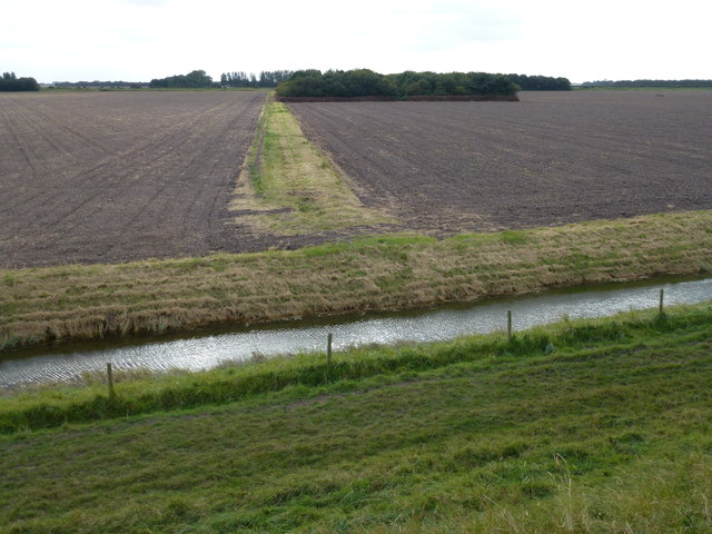 Land reclaimed from The Wash near Ongar Hill