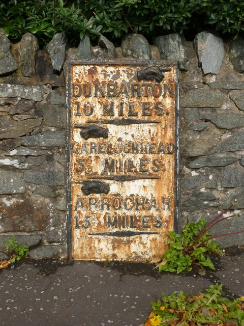 Old milestone at Rhu