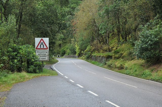 A815 at Loch Eck