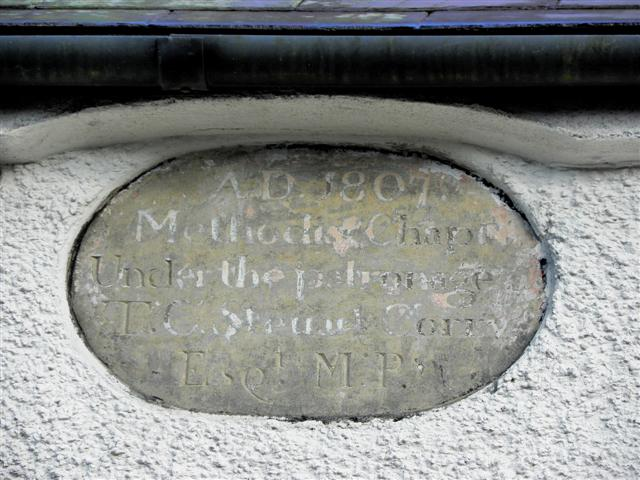 Plaque, Rockcorry Methodist Church