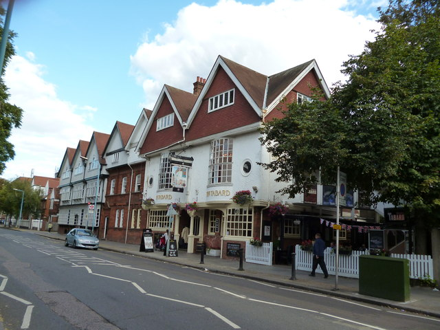 Turnham Green:  The 'Tabard' public house and theatre