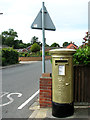 TG4802 : Golden postbox in Belton by Evelyn Simak