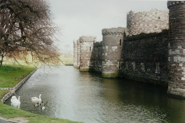 The west side of Beaumaris Castle
