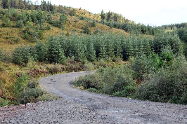 Forestry road near Creag an Fhasgaidh