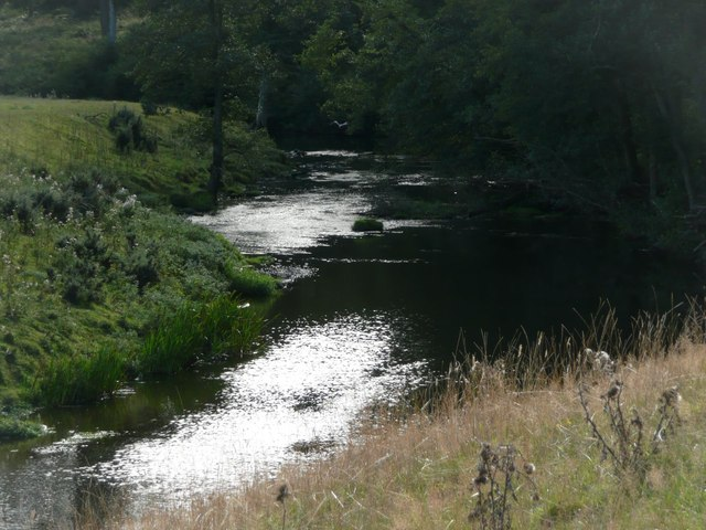 The River Aln in Hulme Park