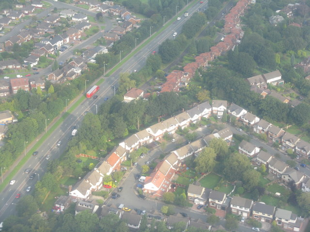 West of Cheadle from the air