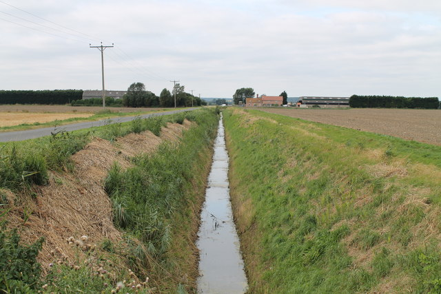 Drain on Haconby Drove towards Middle Farm & Pinders Farm