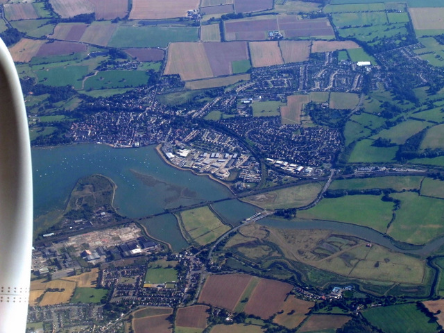 Manningtree from the air