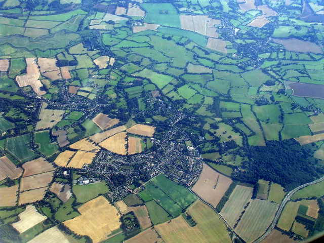 East Bergholt from the air