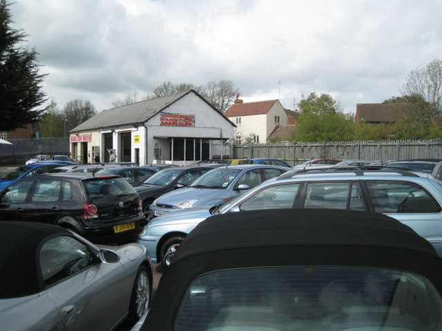 Hand car wash became car sales, Emscote Road