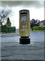 SJ9283 : Golden Postbox, Yewtree Lane by David Dixon