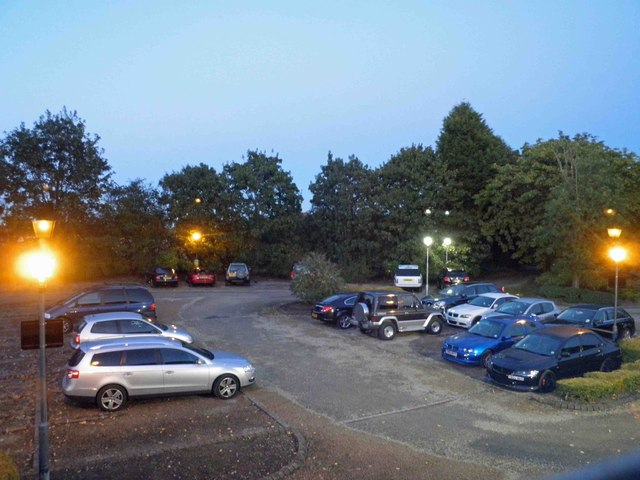 Car park at Ansty Hall hotel
